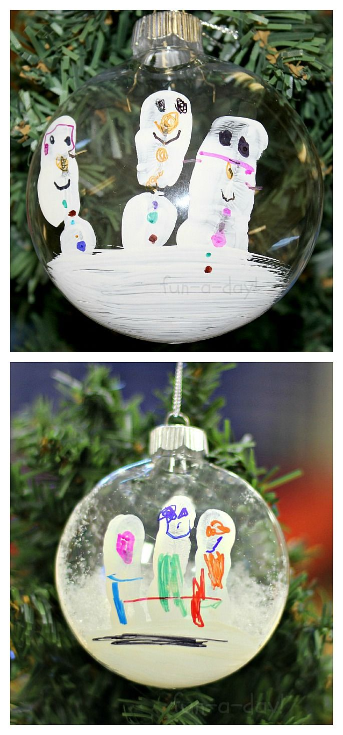This Snowman Fingerprint Ornament Is A Sweet Keepsake Fun A Day Xmas Crafts Christmas Activities Holiday Crafts