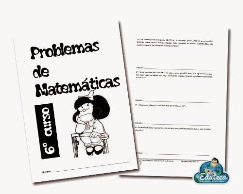 La Eduteca: RECURSOS PRIMARIA | Problemas de matemáticas variados para 6º de Primaria