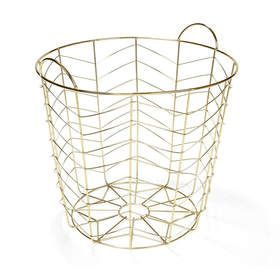 Round Wire Basket - Brass