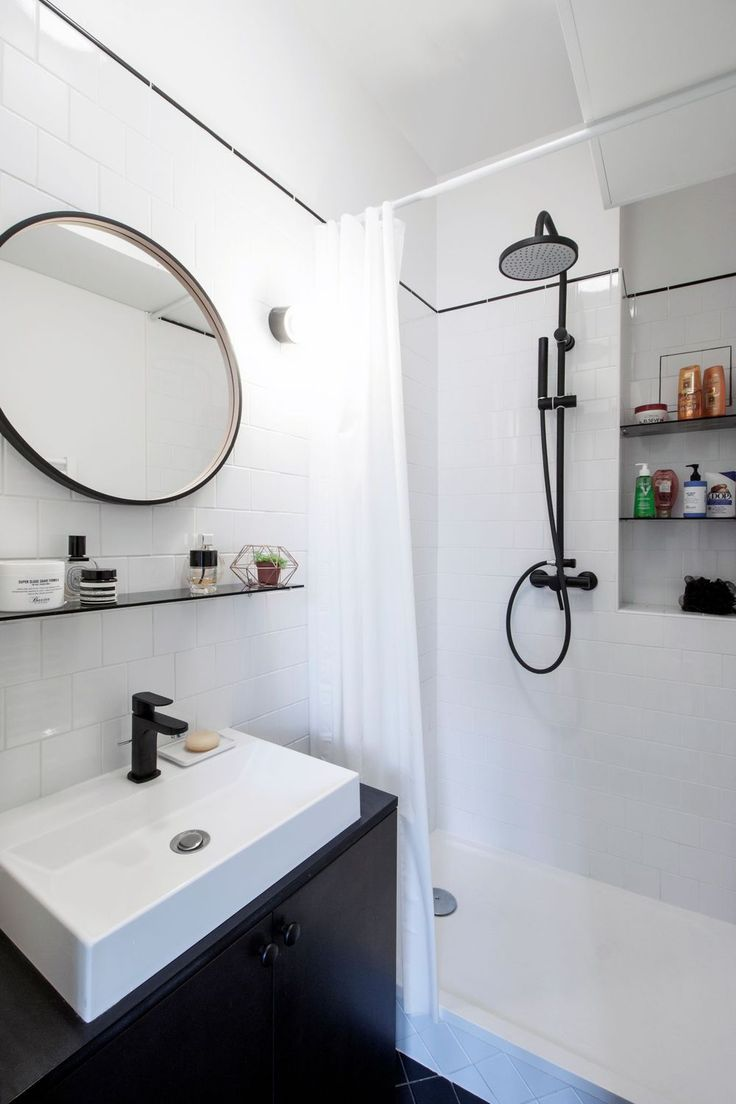 Best 25 salle de bain blanche ideas on pinterest salle for Salle de bain blanche