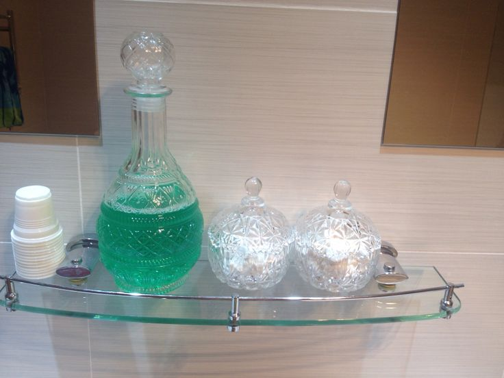 Bathroom accessories  Listerine, mints, ear buds