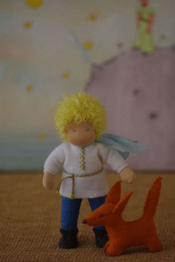Inspired Waldorf doll The little Prince and Fox by TaleWorld