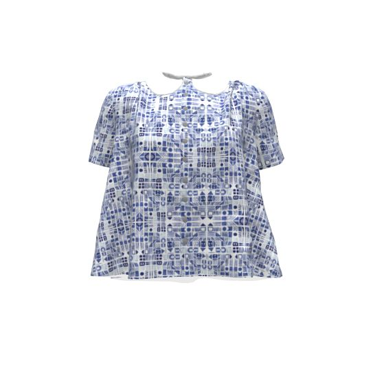 By Hand London Sarah Shirt made with Spoonflower designs on Sprout Patterns.