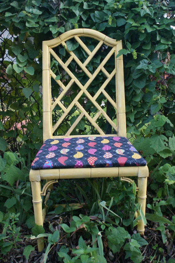 Chinese Chippendale Faux Bamboo Chair