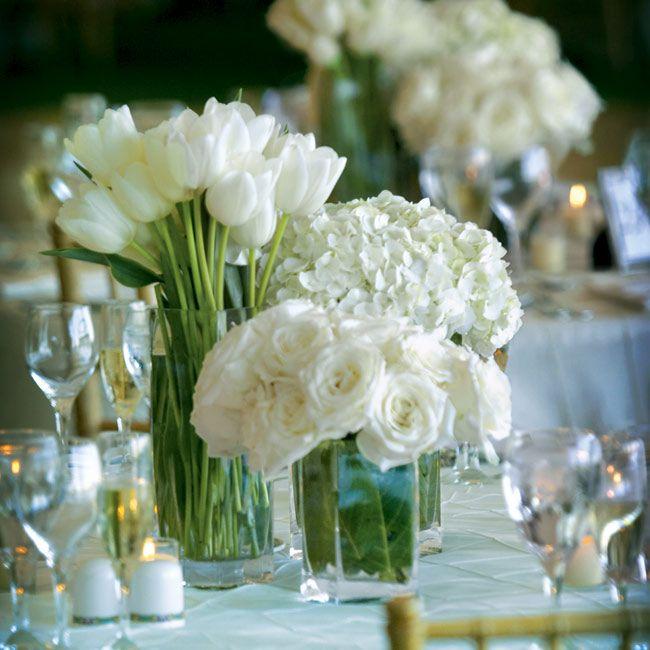 love the bundles of the same flower, definitely white/cream