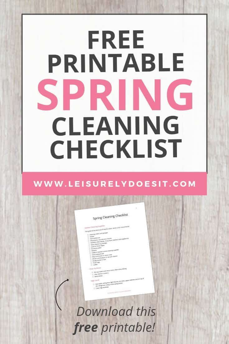 Spring Cleaning Checklist – How To Clean From Top to Bottom