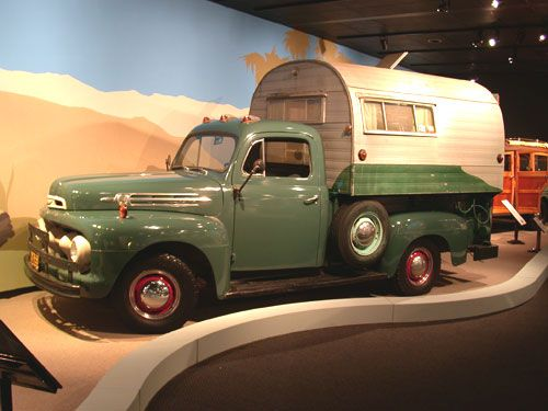 1952 FORD & 1949 SPORT KING F-2 Pickup and Truck Camper ...