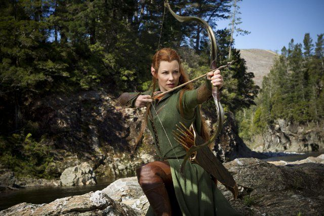 Evangeline Lilly as Tauriel in The Hobbit: The Desolation of Smaug.