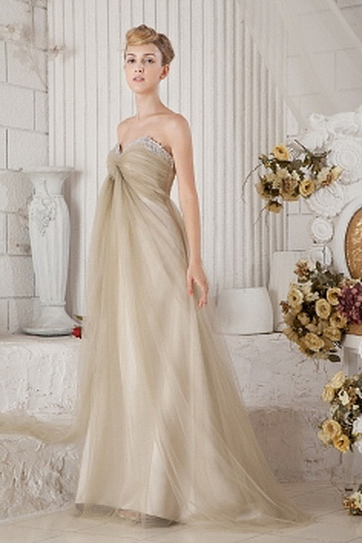 Elegant Sweetheart A-Line Celebrity Gowns wr1845 - http://www.weddingrobe.co.uk/elegant-sweetheart-a-line-celebrity-gowns-wr1845.html - NECKLINE: Sweetheart. FABRIC: Tulle. SLEEVE: Sleeveless. COLOR: Champagne. SILHOUETTE: A-Line. - 148.59