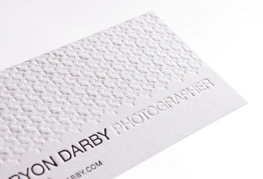 letterpress business cards Bryon Darby