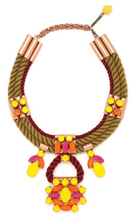 Mouton Collet Yellow Jasminoide Necklace