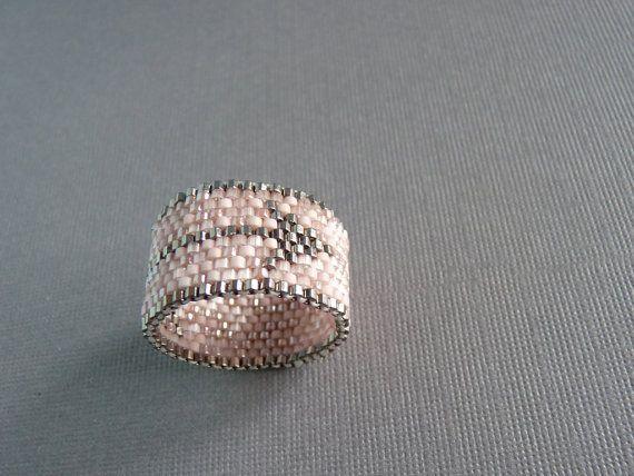 Arrow Woven Seed Bead Ring