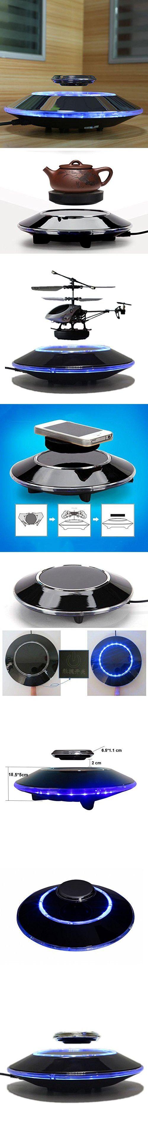 NASKY(TM) UFO Shape Magnetic Levitation Platform Home Decor Float Technology (Black)