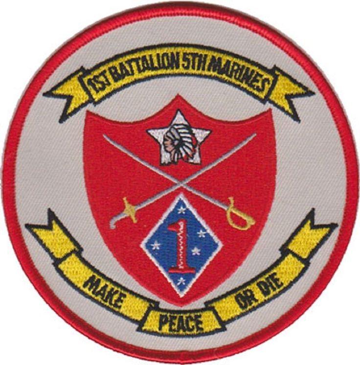 USMC 1st Battalion, 5th Marine Regiment, Camp Pendleton, CA. Patch