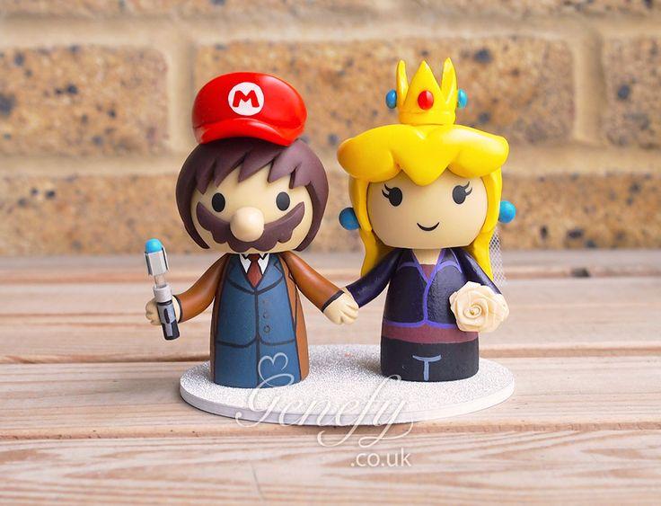 Super Mario x Doctor Who wedding cake topper by GenefyPlayground  https://www.facebook.com/genefyplayground