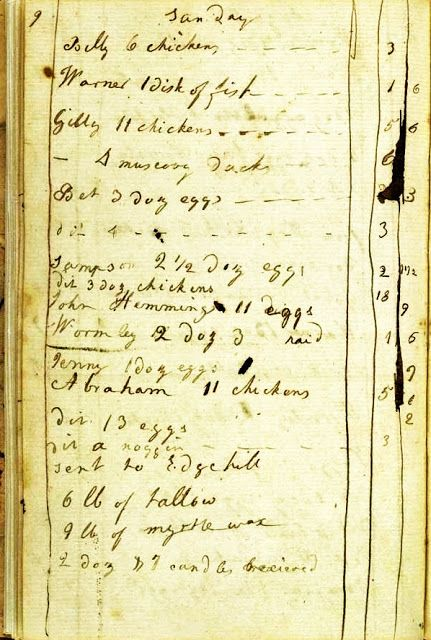 This book had first been used by Jefferson for legal notes & then by his wife, Martha (1748-1782), for her household records & recipes.