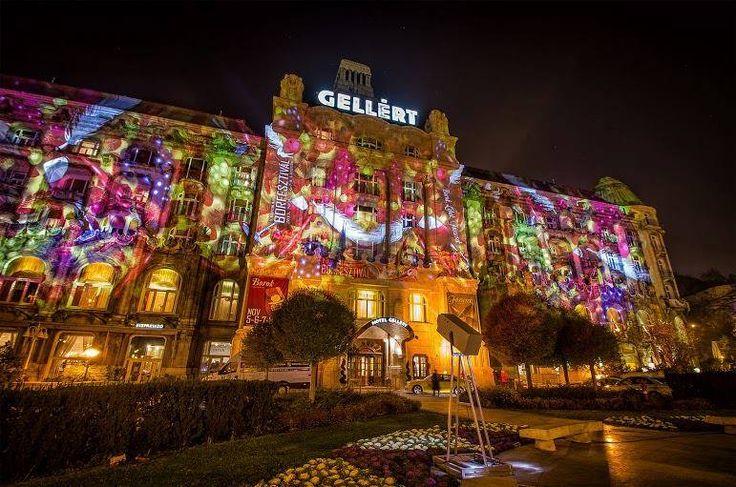 Munkában - Night Projection fényfestés  Ha november, akkor Márton napi #libalakoma és Danubius Hotel Gellért #Borfesztivál - Night Projection #fényfestés  Fotó: Lanszki Photo