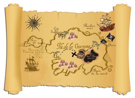 Carte à compléter - anniversaire pirates