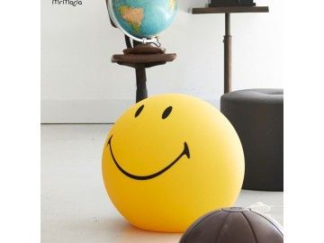 Lampe Smiley jaune XL Mr Maria
