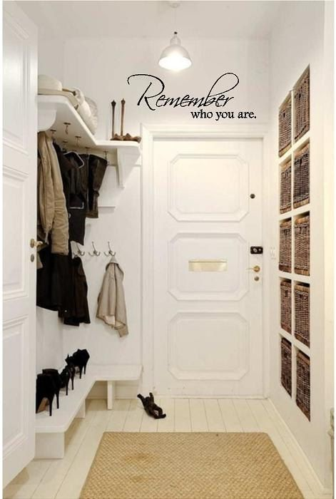 """Remember Who You Are - Vinyl Wall Art Decal for Home or Living Room - Welcome Message for Entryway - 27"""" W x 10"""" H, $14.00"""