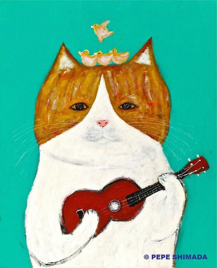 Gold Ukulele Cat by the Fabulous Pepe Shimada   ...........click here to find out more     http://googydog.com