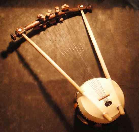 The Nyatiti - 8-stringed lyre from Kenya, Africa.