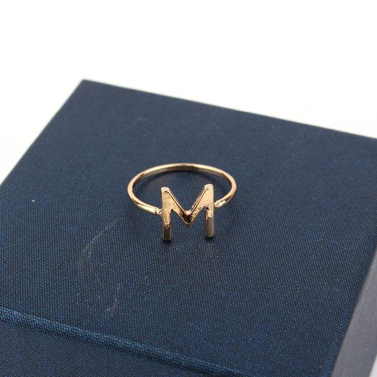 1ピースファッション韓国熱い販売ゴールドメッキ指リング金属手紙m関節指リング女性と操作ジュエリー