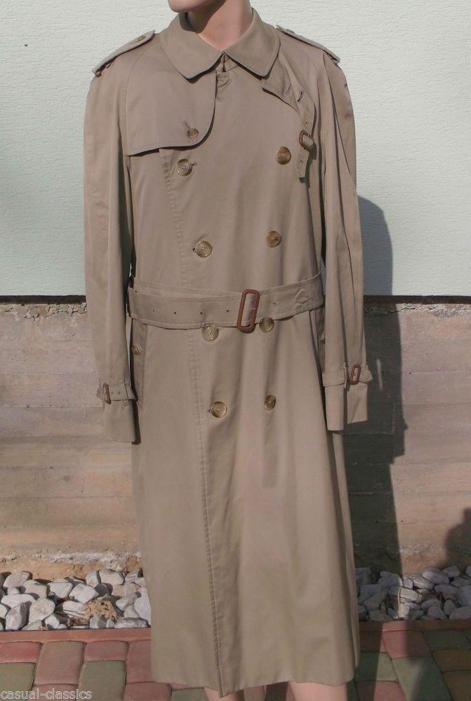 Mens BURBERRY ProrsumTRENCH COAT RAINCOAT MAC + WOOL LINER Size XL+