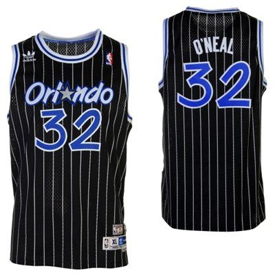 adidas Shaquille O'Neal Orlando Magic Youth Hardwood Classics Retired Player Swingman Jersey - Black