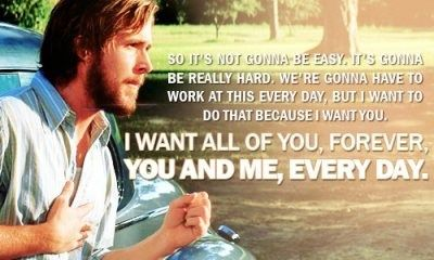 The Notebook quote about what love is like.