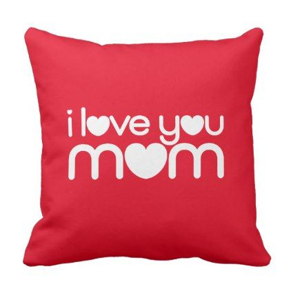 "MOM  02  Polyester Throw Pillow 16"" x 16"" - love gifts cyo personalize diy"