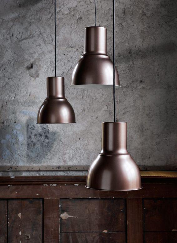 HEKTAR hanglamp | #IKEA #IKEAnl #lamp #verlichting #brons #eetkamer
