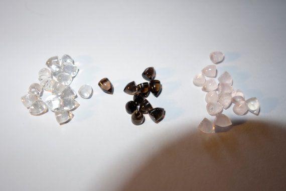 Smokey Quartz crystal Bullets  4mmx4mm    lot of by CrystalYantra