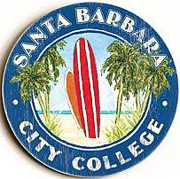Santa Barbara City College Vintage Wood Sign