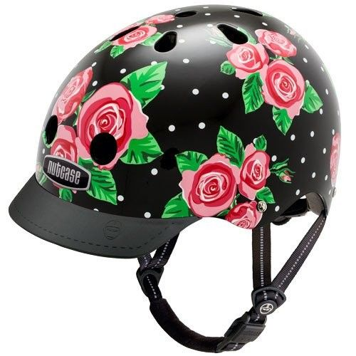 Nutcase Helmet - Rosey Dots #entropywishlist #pintowin What a super spunky helmet! Perfect for keeping my daughter's safe but looking stylish too!