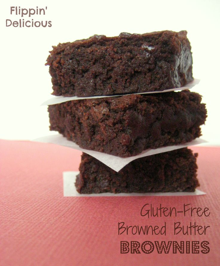 These really are the BEST brownies I've had, gluten-free or not. So fudgy and rich. The browned contributes a nice subtle nuttiness that adds a lot of depth and richness. Just you try and share! I couldn't.