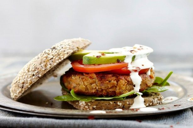 White bean burger main image
