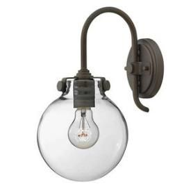 Buy The Hinkley Lighting Antique Nickel Direct. Shop For The Hinkley  Lighting Antique Nickel 1 Light Indoor Wall Sconce With Clear Globe Shade  From The ...