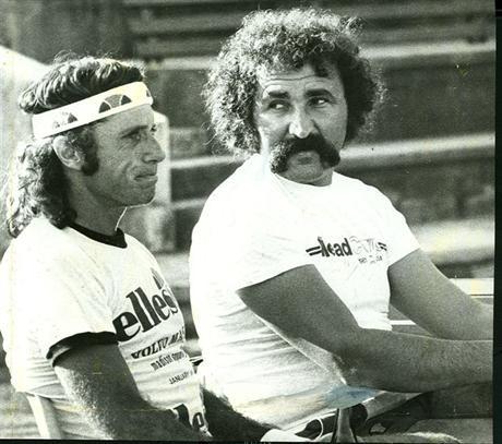 Swinging gladiators of the 70s. Guillermo Vilas & Ion Tiriac.