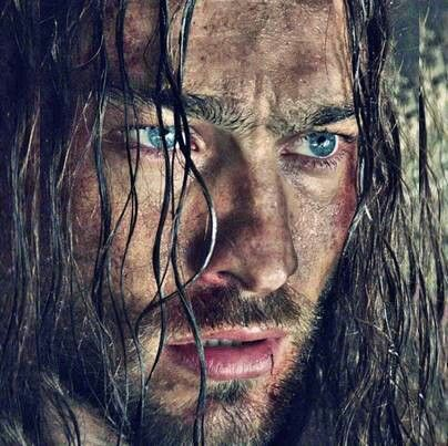Andy Whitfield as Spartacus.