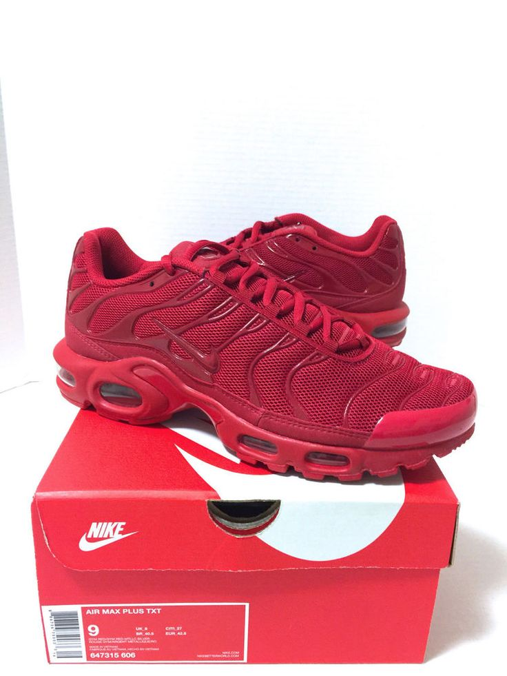 New Nike Air Max Plus Quilted Tn Tuned 1 University Red Mens U.S size 9 DS #NikeAirMaxPlus #AthleticSneakers