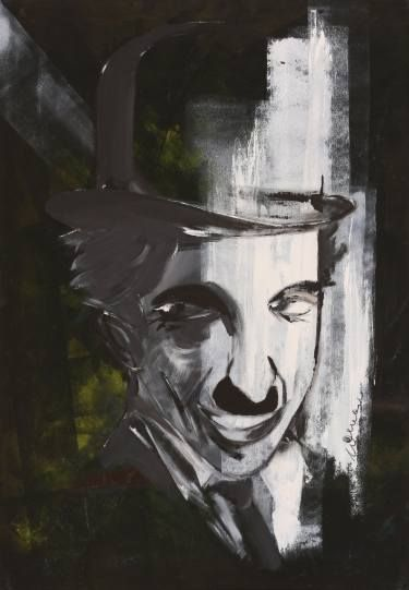 Charlie Chaplin Portrait 2 #art Saatchi Art Artist Florin Coman; Painting