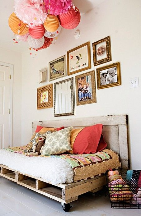 for a pop of color...hang from ceiling.