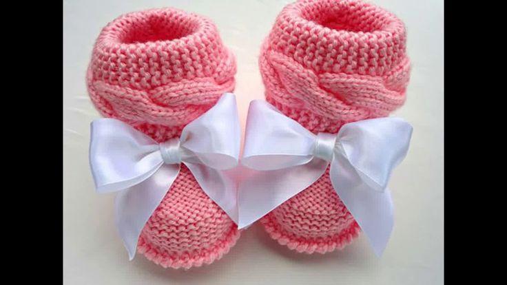 Bellos botines tejidos de bebe