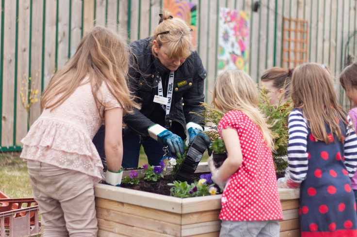 Planting flowers and plants at Reeds Road in Huyton