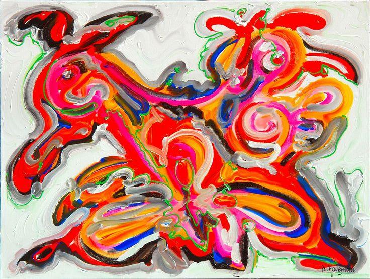 In de stijl van cobra schilderijen