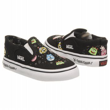 I want these for Phoenix, he could put them on himself and they're YO GABBA GABBA! Win, Win :o)