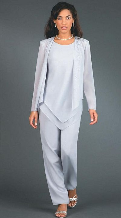 pant suits for women for weddings | Ursula Plus Size Wedding Mother Dressy Pant Suit 41114 image