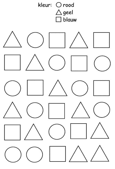 Werkblad vormen