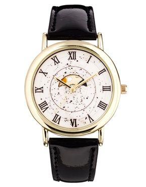 """Изображение 1 из Часы с дизайном """"падающие звезды"""" ASOS"""